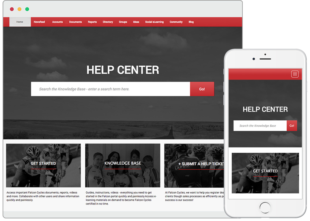 Mobile-enabled Customer Portal