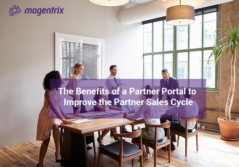 Channel managers discussing the benefits a partner portal has on the channel partners sales cycle