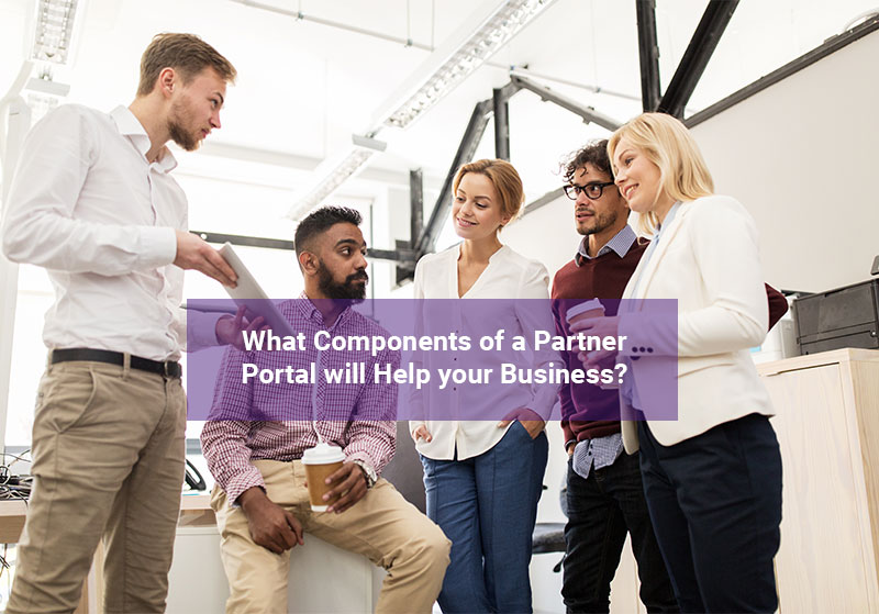 Channel managers discussing the different components of a partner portal