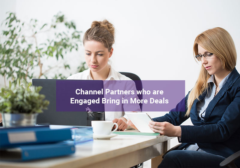 Channel partners engaged on a partner portal to complete deals