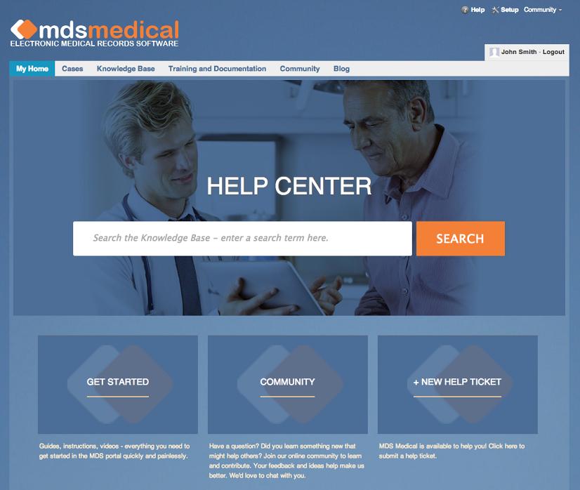MDS Medical customer portal